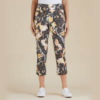THREADZ PRINTED CHARCOAL/GOLD PANTS