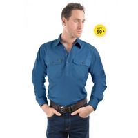 Hard Slog Mens Half Button  Light Cotton Shirt