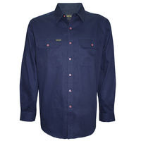 Hard Slog Mens Full Button Light Cotton Shirt