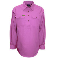 Hard Slog Womens Half Button Light Cotton Shirt