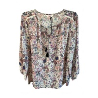 OUTBACK SUPPLY WOMENS FLORAL BLOUSE