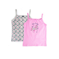THOMAS COOK GIRLS SINGLET 2PK