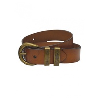 Brass Twin Keeper Belt Camel