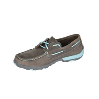 TWISTED X WOMENS MOCS GRY/LIGHT BLUE