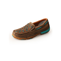 TWISTED X TURQUOISE CUTOUT MOCS SLIP ON
