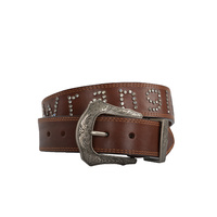 WRANGLER WOMENS DIAMANTE LOGO BELT